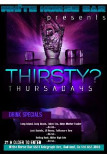 $4.00 Long Island Thursdays @ The White Horse Inn | Oakland | California | United States